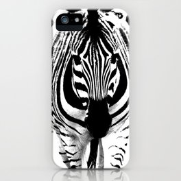 Bold Zebra iPhone Case