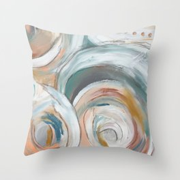Abstract chic - cirlces and dots Throw Pillow