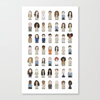 oitnb Canvas Prints featuring OITNB by Big Purple Glasses