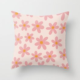 Summer Flowers I Throw Pillow