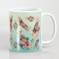 psychadelic Mugs featuring cars  by mark ashkenazi