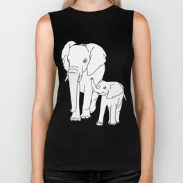 elephant cub Biker Tank