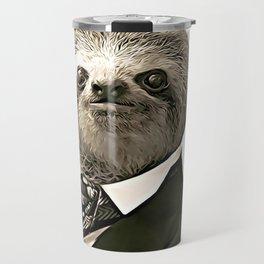 Gentleman Sloth with nice posture Travel Mug