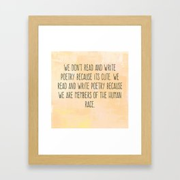 Read and Write Poetry Dead Poets Society Framed Art Print