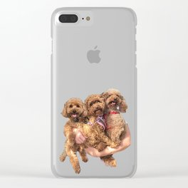 poodle party! Clear iPhone Case