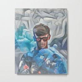 Teenage Vaper | AI-Generated Art Metal Print