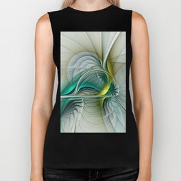Fractal Evolution, Abstract Art Graphic Biker Tank