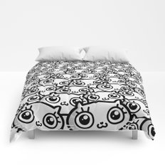 Crazy Cat Lady Dreams (in b/w) Comforters