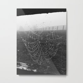 Web in the Fog Metal Print