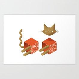 Catstructivism, or Schrodinger's Cat Art Print