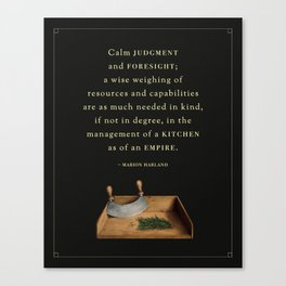 Judgment & Foresight Canvas Print