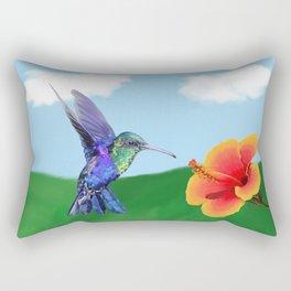 The very hungry hummingbird Rectangular Pillow
