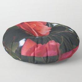 Pink Camellia Floor Pillow