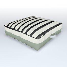 Sage Green x Stripes Outdoor Floor Cushion