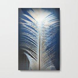Feather Vignette Metal Print