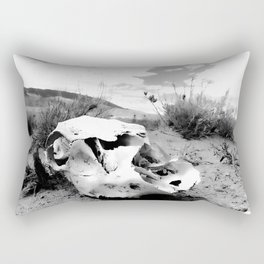 Desert Skull in Black and White Photography Rectangular Pillow