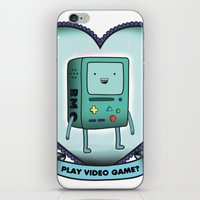 bmo iPhone & iPod Skins featuring BMO by Breathedeep