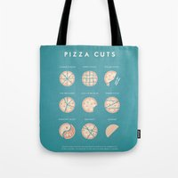 pizza Tote Bags featuring Pizza by Travel Poster Co.
