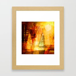 Coming home to harbour Framed Art Print