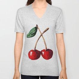 Cherry Red Unisex V-Neck