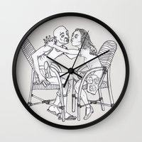 couple Wall Clocks featuring couple by Madmi