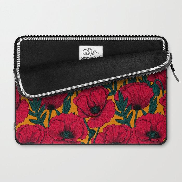 Red poppy garden Laptop Sleeve