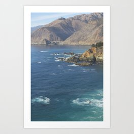 Bixby Bridge in Big Sur Art Print