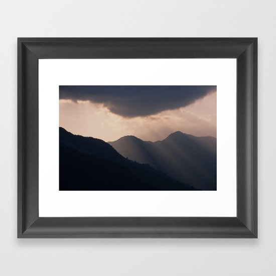 let there be night Framed Art Print