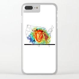 Trump Buffoon Typhoon Warning Clear iPhone Case