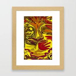 Liquified Lion Framed Art Print
