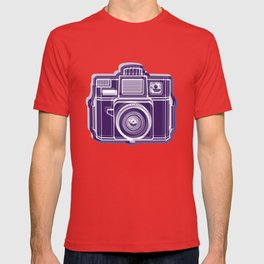 I Still Shoot Film Holga Logo - Deep Purple T-shirt