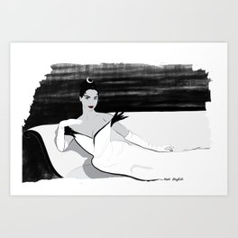 Leslie Caron as Gigi Art Print