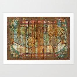 Antique World Art Print