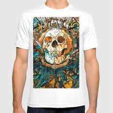Old Skull White Mens Fitted Tee MEDIUM