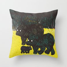 Wandering Bears Throw Pillow