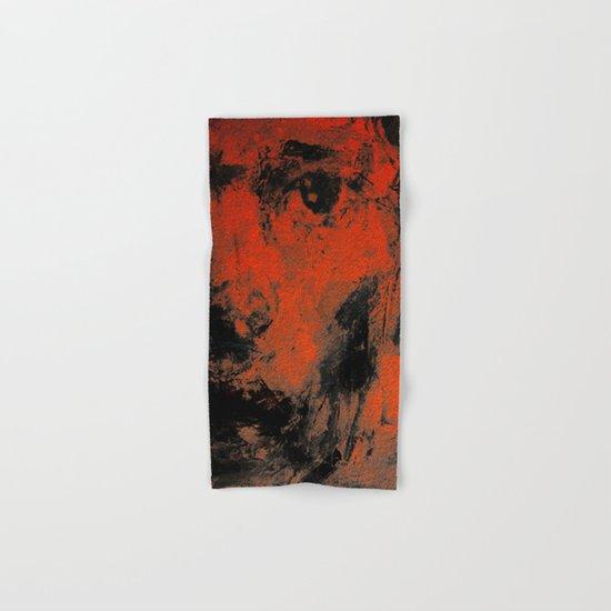Black and Orange Wall Hand & Bath Towel