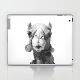 Black and White Camel Portrait Laptop & iPad Skin