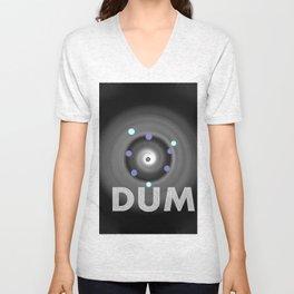 Dum! la onomatopeya del sonido del bajo en el altavoz para bailar Unisex V-Neck