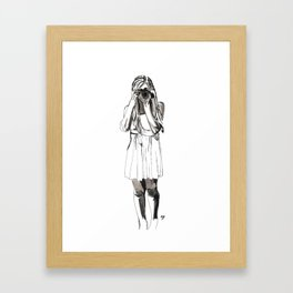 Photography Girl Framed Art Print