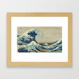 Vintage poster - The Great Wave Off Kanagawa Framed Art Print