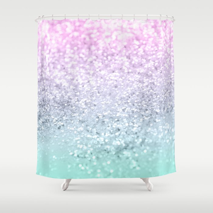 Mermaid Girls Glitter #1 (2019 Pastel Version) #shiny #decor #art #society6 Shower Curtain