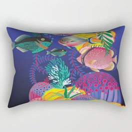 Exotic Sea Life Rectangular Pillow