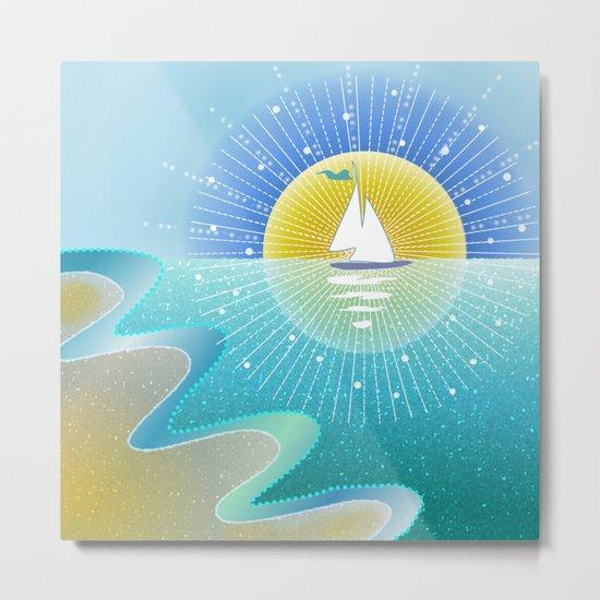 Sunny Sailing Metal Print