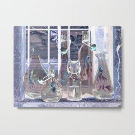 Bottled Mermaids Metal Print