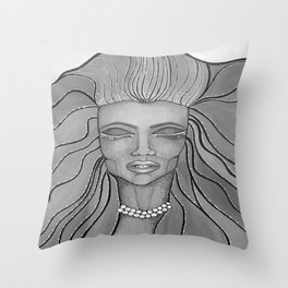 Feel The Wind Throw Pillow