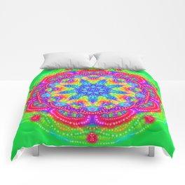 Amazing Day Neon Mandala Comforters