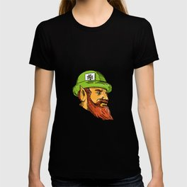 Leprechaun Head Side Drawing T-shirt