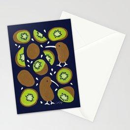 Kiwis & Kiwis – Navy Palette Stationery Cards