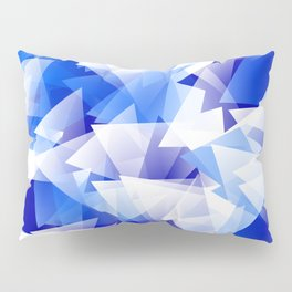 triangles in shades of blue Pillow Sham