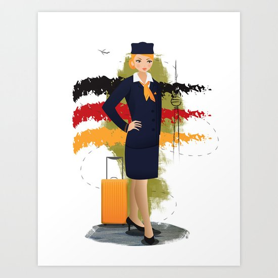 Come fly with me, let's fly, let's fly away - Germany Art Print